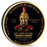 Gladiator Beard Balm – Leave in Beard Conditioner – Gladiator Sized 2.6 oz, 30% More Than Most Beard Balms – Shea Butter Plus 9 Premium Oils to Nourish and Condition Your Beard (Tamaño: 2.6 fl. oz.)
