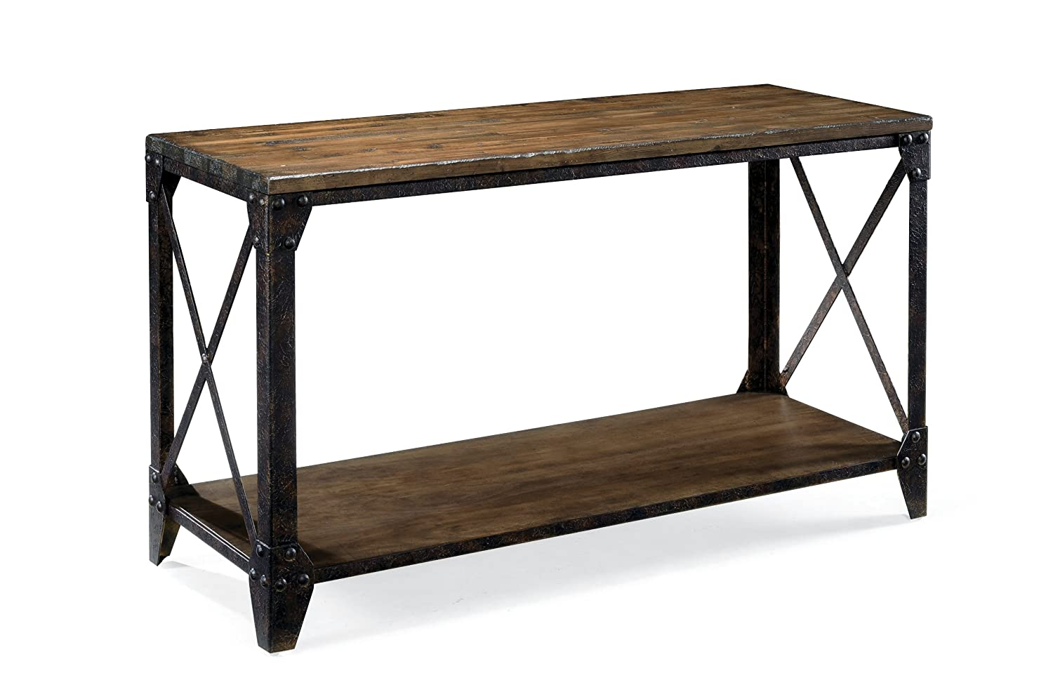 Pinebrook Coffee Table ... Industrial Loft Style Furniture: Metal Distressed Sofa/Console Table