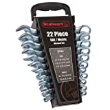 Stalwart 75-HT3009 Combo SAE & Metric Wrench Set with Carry Case, 22 Piece
