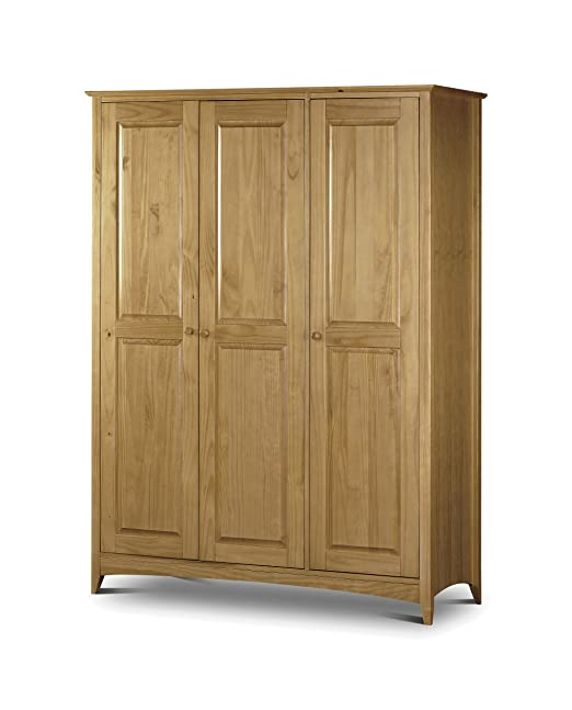 Julian Bowen Kendal 3 Door Pine Wardrobe, Natural