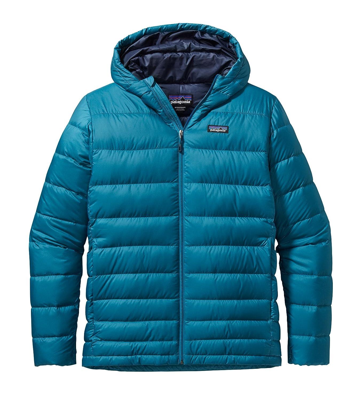 Patagonia M HI-Loft Down Hoody – Underwater Blue – – Wasserabweisende isolierte Herren Daunen Kapuzenjacke jetzt kaufen