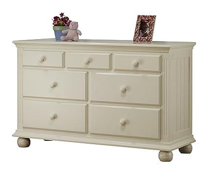 Sorelle Vista 7 Drawer Double Dresser, French White