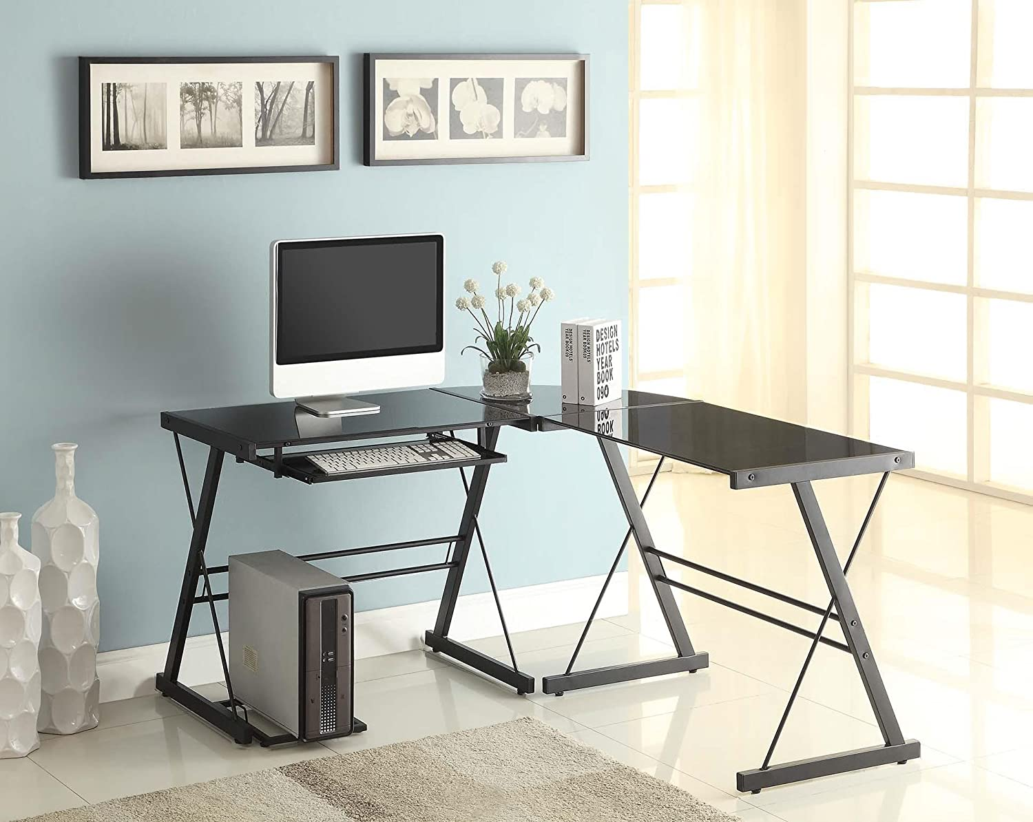 This Naomi Home 3 Piece Sedalia set is one of the best computer gaming desks right now.