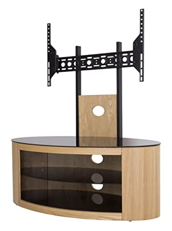AVF FSL1000BUCO-A Buckingham - Combination TV Stand and Optional TV Mount - 1000, Oak