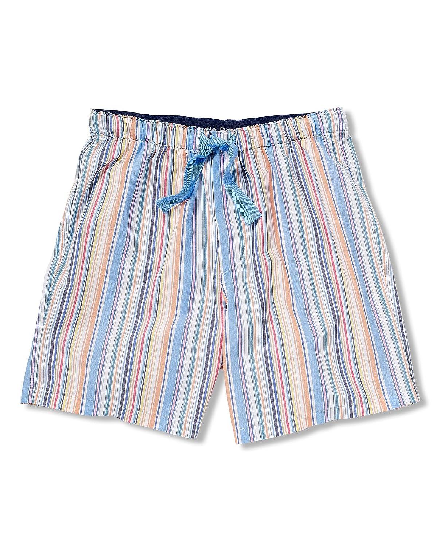 Savile Row Mens Multi Stripe Lounge short XXXL 100% Peached Cotton