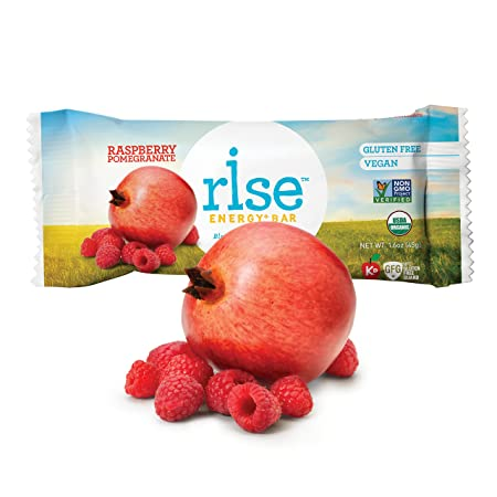 Rise Bar Energy Bar Organic Rasberry Pomegranite 45 g (Pack of 12) [Kohlenhydrate]