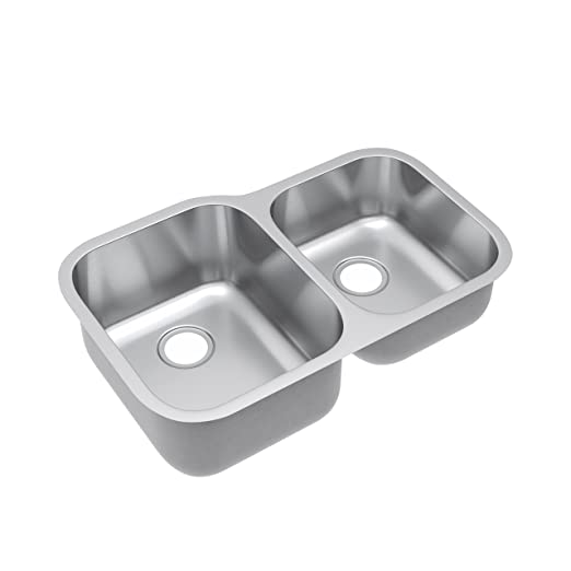"Kohsh 32"" Undermount Double Bowl 60/40 Stainless Steel Kitchen Sink"