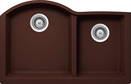 SCHOCK INPN175YU009 INSPIRE Series CRISTALITE 70/30 Undermount Double Bowl Kitchen Sink, Copper