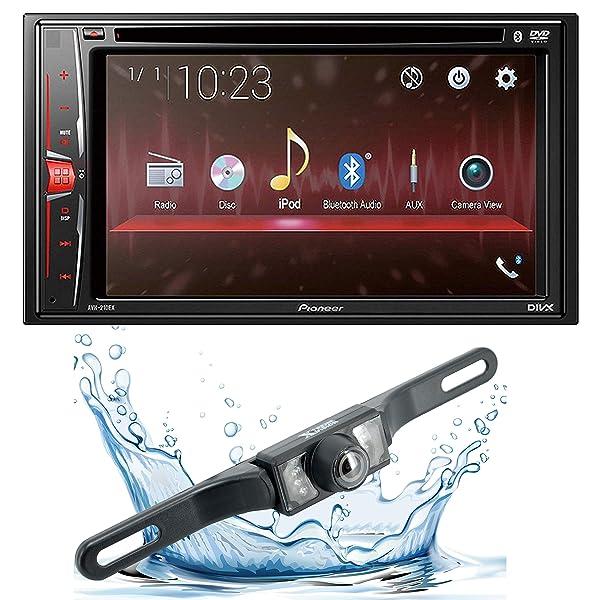 Pioneer AVH-210EX 6.2 2-Din Bluetooth Touchscreen Multimedia DVD Receiver w/ 95BK Back up Camera