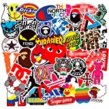COOLCOOLDE Kids Gift 100Pack Logo Brand Stickers Set Random Sticker Decals for Water Bottle Laptop Cellphone Bicycle Motorcycle Car Bumper Luggage Travel Case. Etc (Logo) (Color: Logo)