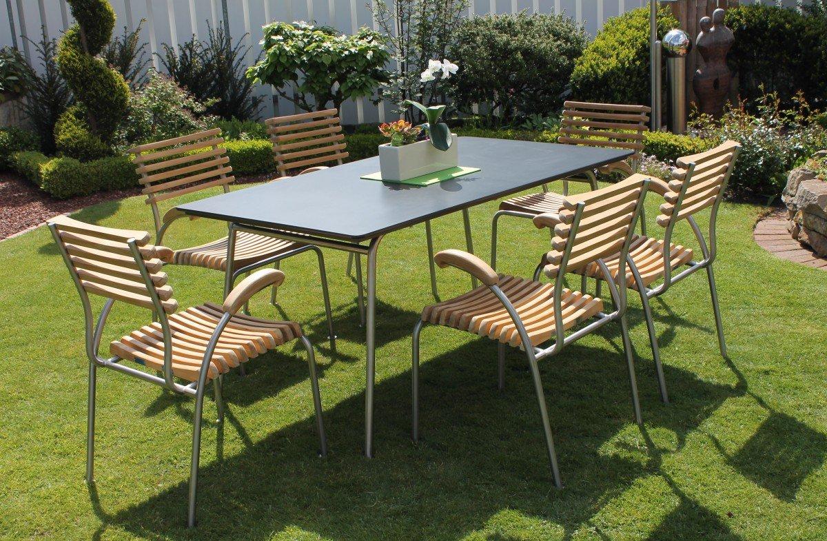 Dreams4Home Gartentisch 'Canberra', Tisch, Esstisch, Beistelltisch, Gartenmöbel, (B/H/T) ca. 90 x 72 x 150 cm, Garten, in Anthrazit