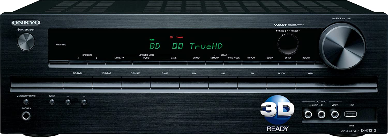 Onkyo TX-SR313 5.1- Channel Home Theater A/V Receiver