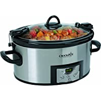 Crock-Pot 6-Quart Programmable Cook & Carry Slow Cooker with Digital Timer (Stainless Steel)