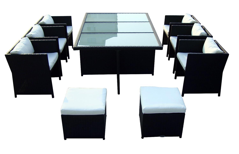 Baidani 10d00006.00001 Sitzgruppe Secret, 9-teilig, schwarz online bestellen