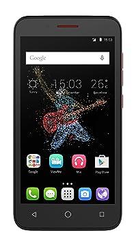 Alcatel Go Play Smartphone débloqué (Ecran: 5 pouces Android) Noir/Rouge foncé