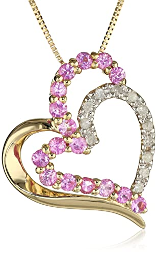 10k-Yellow-Gold-Pink-Sapphire-and-Diamond-Heart-Pendant-Necklace-18-