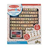 Melissa & Doug Created by Me! Letter ABCs 123S Wooden Stamp Kit, Activity Book, 4-Color Ink Pad (Color: Multi)