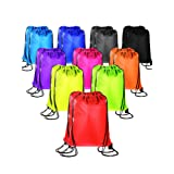 20 Pieces Drawstring Backpack Sport Bags Cinch Tote Bags for Traveling and Storage (10 Colors B, Size 1) (Color: 10 Colors B, Tamaño: Size 1)