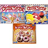 Popin' Cookin' DIY Candy Kit (3 Pack Variety) - Tanoshii Cakes, Sushi and Donuts (Tamaño: 3Pack Variety)