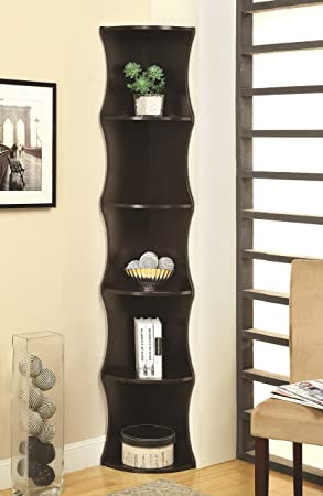Coaster Home Furnishings 801182 Casual Corner Shelf, Cappuccino