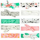 JLIKA Baby Girl Headbands 10 Pack Toddler Cotton Knotted Newborn Headband Headwrap Bows Hair Accessories (Color: Modern Designs Collection, Tamaño: 10)