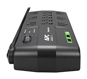 APC 11-Outlet Surge Protector Power Strip with USB Charging Ports, 2880 Joules, SurgeArrest Home/Office (P11U2)