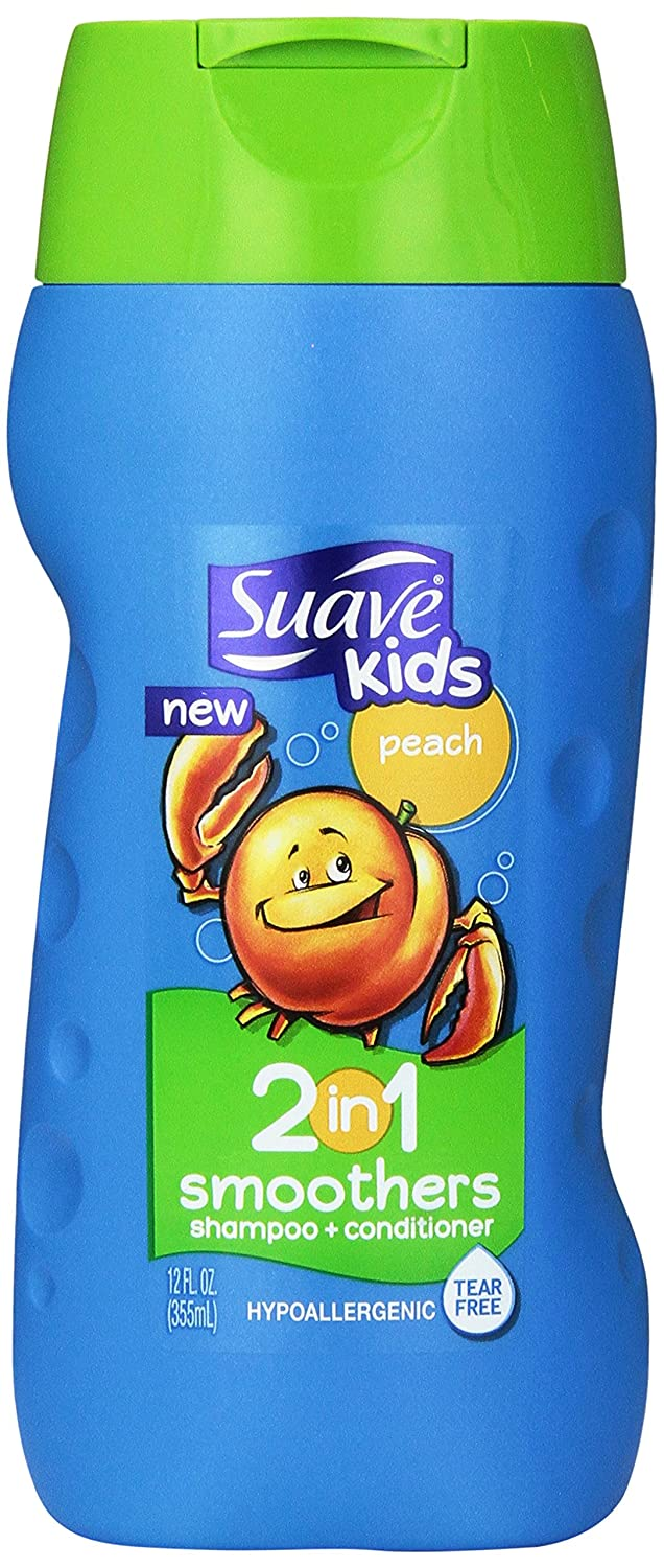 Suave Kids 2 in 1 Shampoo + Conditioner, Peach Smoothers 12 oz