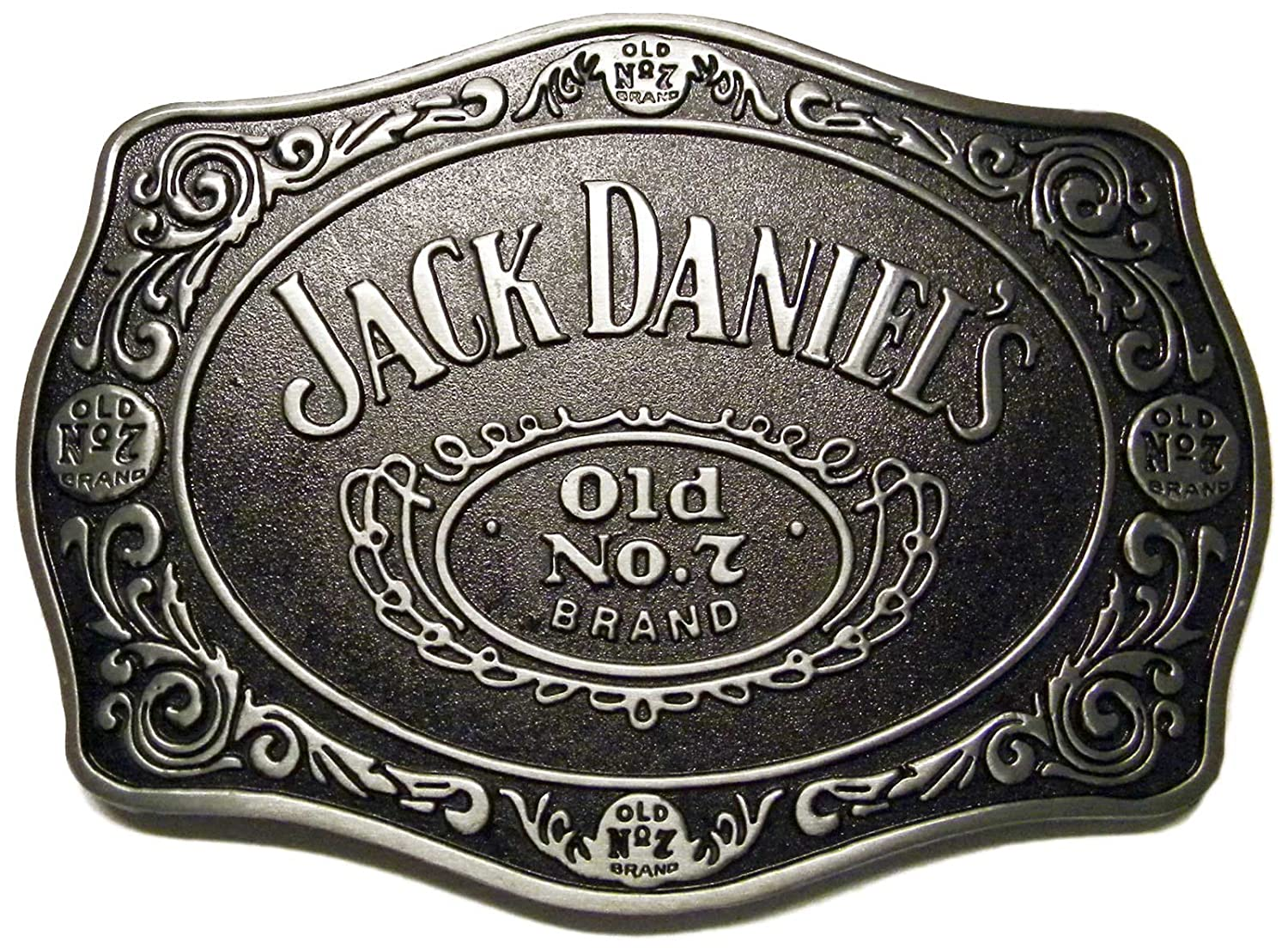 Jack Daniels Old No. 7 Brand Metal Belt Buckle