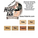 Hide Ink Tattoo Covers Medium Colors Sample Pack (Color: Pale-Fair-Olive-Tan-Copper-Almond, Tamaño: 4 Inch by ;6 Inch)