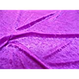 10 Yard Lot Discount Fabric Crushed Stretch Velvet Violet Purple O401 (Color: Purple, Tamaño: 10 Yard Lot (continuous))