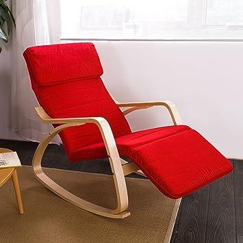 sobuy fst16 r fauteuil bascule avec repose pieds r glable design rocking chair fauteuil ber. Black Bedroom Furniture Sets. Home Design Ideas