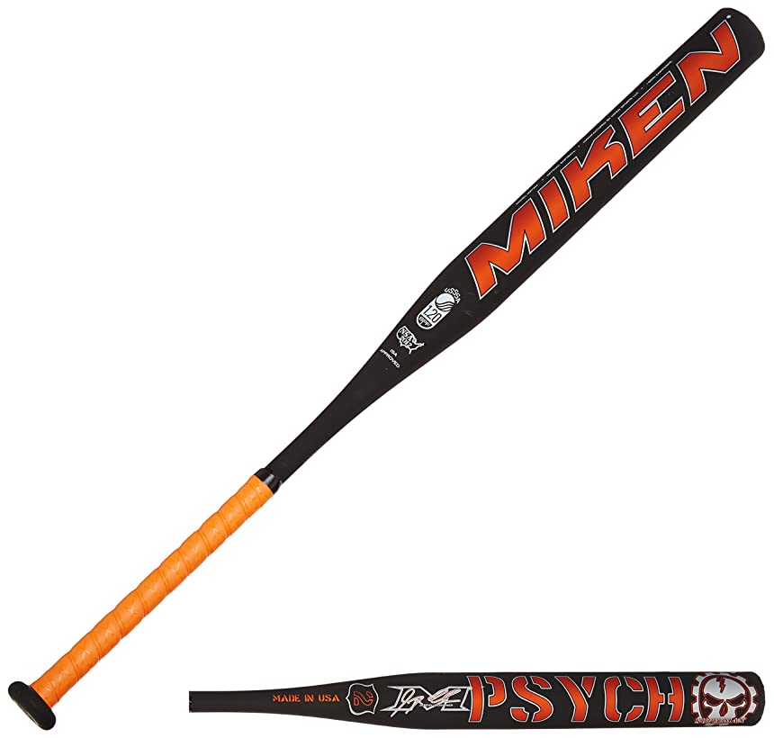 Miken Psycho Supermax USSSA Slowpitch Softball Bat (1-Piece) , 26oz
