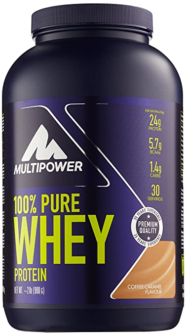 Multipower 100 % Whey Protein Coffee Caramel 900 g, 1er Pack (1 x 900 g)