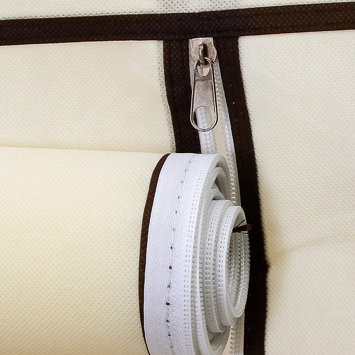 SONGMICS Portable Clothes Closet Non-woven Fabric Wardrobe Double Rod Storage Organizer Beige 59-Inch URYG12M