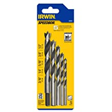 Irwin Tools 49600 5 Piece Brad Point Set