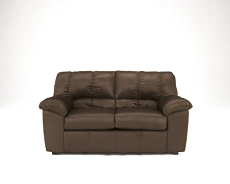 Dominator Contemporary Brown Fabric Loveseat