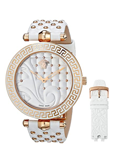 Versace Women's VK7010013 Vanitas Rose Gold Ion-Plated Coated Stainless Steel Womens Watch - womens watches - watches womens - ladies watches - watches for women