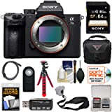 Sony Alpha A7 III 4K Digital Camera Body with 64GB Card + Case + Tripod + Strap + Remote + Kit