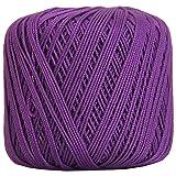 Threadart 100% Pure Cotton Crochet Thread - SIZE 3 - Color 30 - PURPLE -2 sizes 27 colors available (Color: PURPLE, Tamaño: SIZE 3 SINGLE)