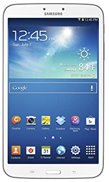"Samsung Galaxy Tab 3 8.0 4G Tablette tactile 8"" (20,32 cm) ARM Dual Core 1,5 GHz 16 Go Android Jelly Bean 4.2.1 Bluetooth Blanc"