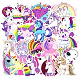 30 Pcs Unicorns Cool Laptop Sticker for iPhone MacBook Car Motorcycle Luggage Water Bottle DIY Bumper Bomb Vinyl Decal Stickers for Guy Skateboarding Accessories (Color: 30 Pcs Unicorns, Tamaño: 2-4.5 inch)