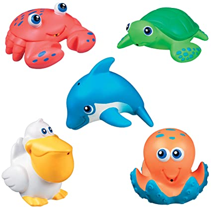 Amazon.com : Munchkin Five Sea Squirts Bath Toys : Bathtub Toys : Baby