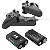 Smatree 2000 mAh Rechargeable Battery (2 Packs ) + Dual Charging Station High Speed Docking Compatible for Xbox One/Xbox One X/Xbox One S/ Xbox One Elite Wireless Controller (Color: Black, Tamaño: with Controller Charging Dock)