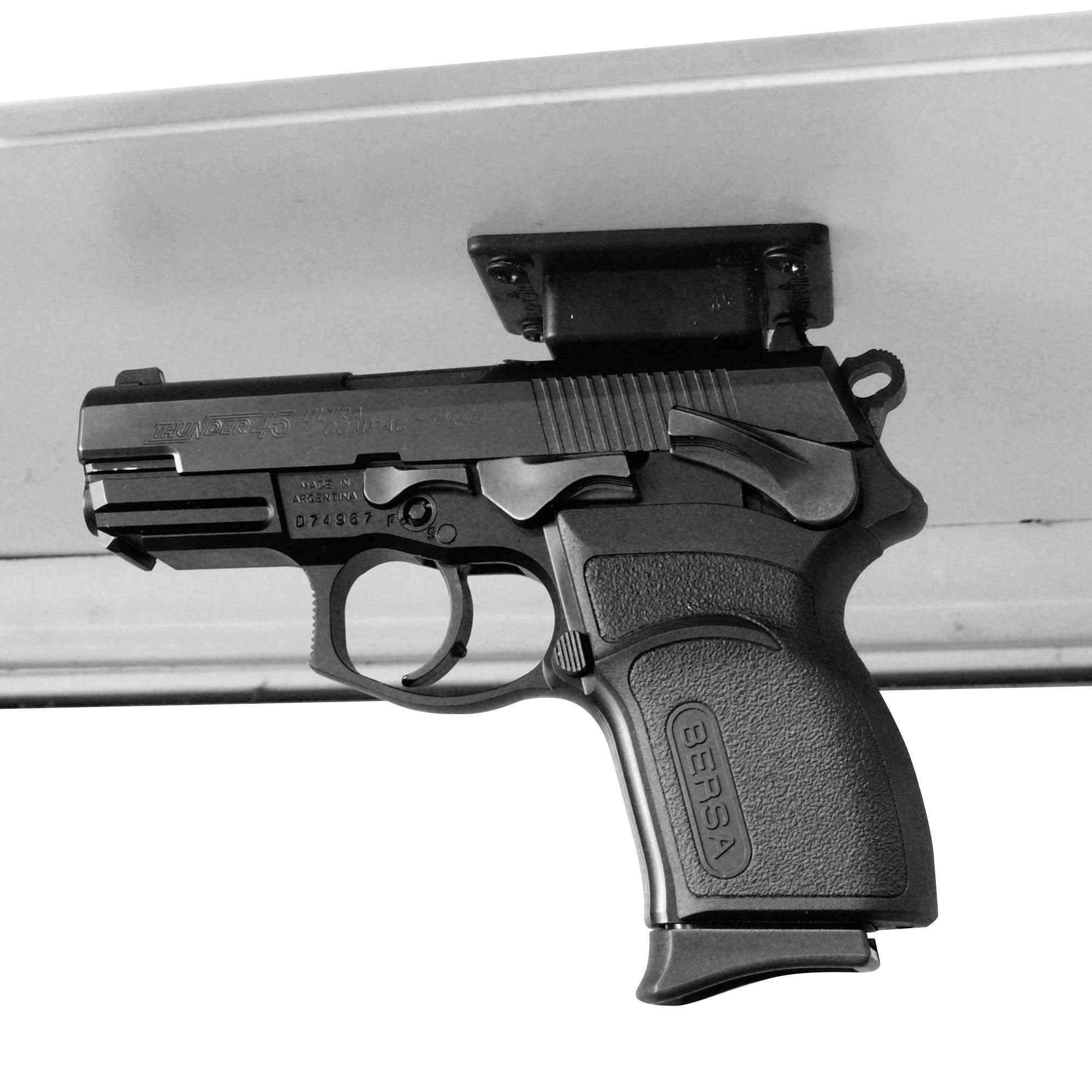 Quick Draw Gun Magnet Hold Handgun Under Counter Or Shelf