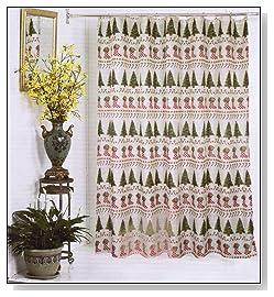 Christmas Tyme Fabric Shower Curtain