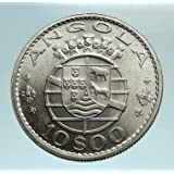 1969 PT 1969 ANGOLA under PORTUGAL Five Crowns Antique Ge coin Good Uncertified
