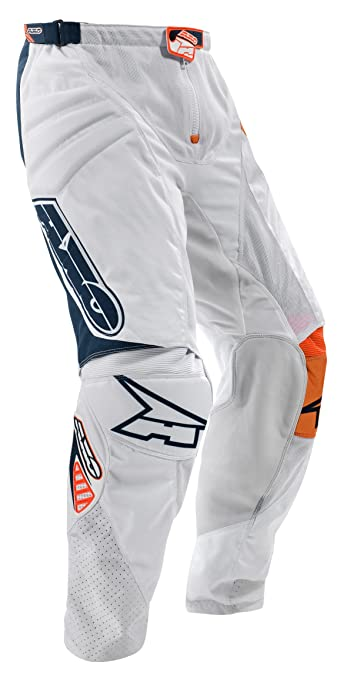 AXO MX3T0056-WO TC222 Pants,Taille 52, Blanc/Orange