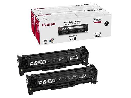 2x Canon 718BK Cartouche toner pour imprimante laser LP7200C/MF8330C/MF8350C Noir 2662B005