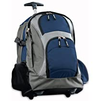 Broad Bay Rolling Backpack Deluxe Navy Best Quality
