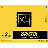 Canson XL Series Bristol Pad, Heavyweight Paper for Ink, Marker or Pencil, Smooth Finish, Fold Over, 100 Pound, 19 x 24 Inch, Bright White, 25 Sheets (Tamaño: 19